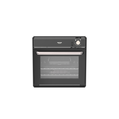 Duplex oven V Ign Black glass brushed nickel handle and knobs